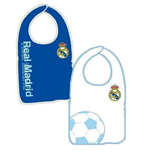 PRIMERAEDAD/Babero bebé real Madrid Personalizado con nombre/COLOR AZ