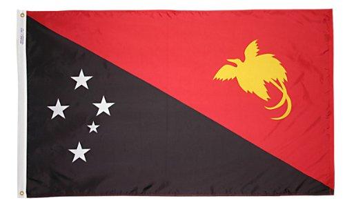 Annin flagmakers Nylon solarguard nyl-glo papua-new-guinea Flagge, Schwarz / Rot / Gelb