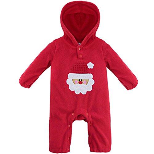 YiZYiF - Mono - para bebé niño Red Christmas Santa Claus 12 - 18 months