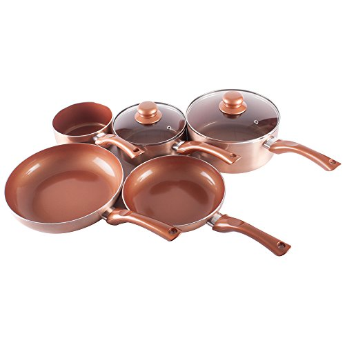 Non Stick Ceramic Coated Copper Pan Set
