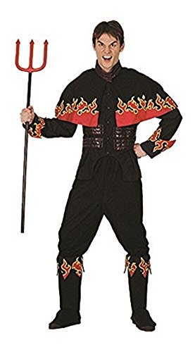 Erwachsene Halloween Flaming Devil Adult Kostüm Oneszie (Einheitsgröße, Schwarz)