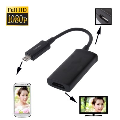 SM-PC®,MHL+-Adapter; Micro USB (MHL+) auf HDMI, für MHL-fähigen Handys #038