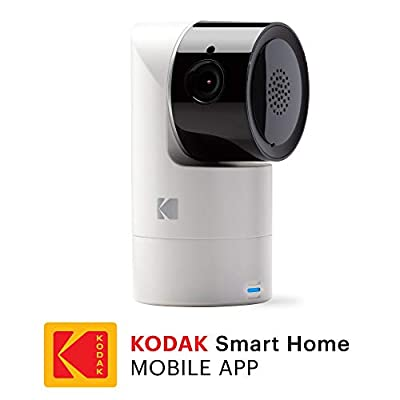 KODAK Cherish C125 Add-On Smart Video Baby Camera with Mobile App, Remote Tilt, Pan and Zoom Two-Way Audio, Night-Vision, Long Range - WiFi Indoor Camera Smart WiFi Baby Monitor Add-on  ZAY