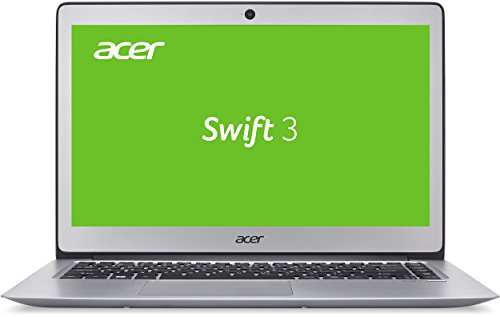 Acer Swift 3 (SF314-51-36R6) 35,6 cm (14 Zoll Full HD IPS) Notebook (Intel Core i3-6100U, 4GB RAM, 128GB SSD, Intel HD Graphics 520, Win 10 Home) silber