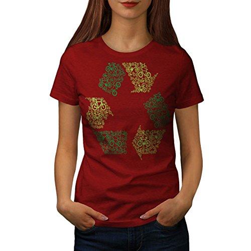 Recyceln Kasten Kunst Öko Komisch Damen S-2XL T-shirt | Wellcoda Red