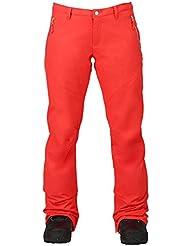 Burton Pantalón de snowboard, otoño/invierno, mujer, color coral, tamaño S