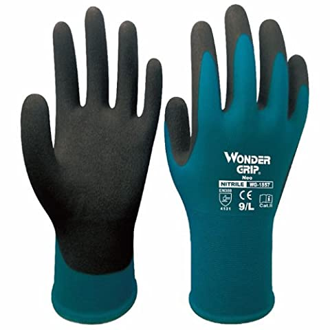 Evilandat Ultra Thin Nitrile Single Palm Coating Nylon Gloves Finger Mittens
