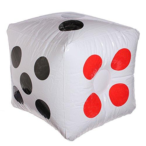 LaDicha Plastik-Aufblasbare Dice Balloon Pool Party Spielzimmer Dekration