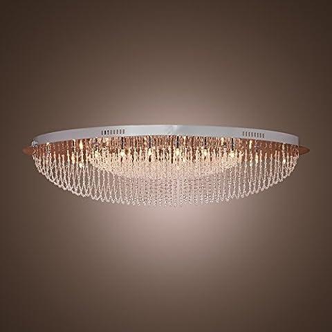 Saint Mossi Modern Crystal Raindrop Chandelier Lighting Flush mount LED