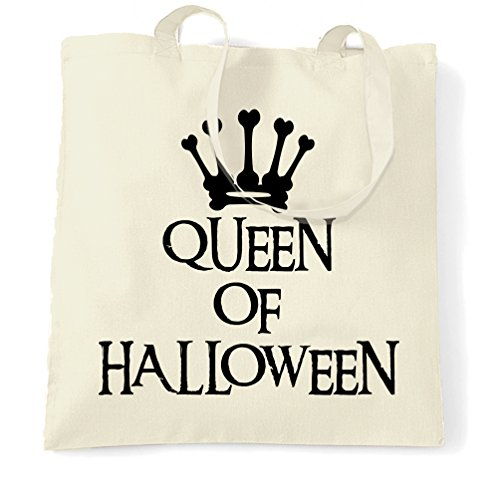 (Neuheit Spooky Tragetasche Queen Of Halloween Crown Natural One Size)