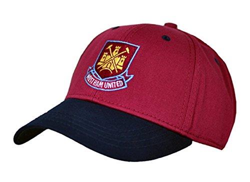 Fußball T-shirt Hut (Neue Offizielle Fußball Team Baseball Kappe (verschiedene Mannschaften zur Auswahl.) alle mit offiziellen Club Shop Tags., Herren, West Ham (Burgandy), einheitsgröße)