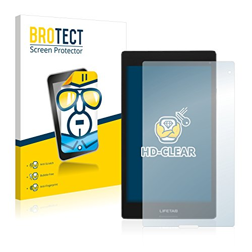 BROTECT Schutzfolie kompatibel mit Medion Lifetab S8312 (MD98989) [2er Pack] klare Bildschirmschutz-Folie