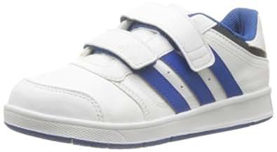 adidas Performance LK Trainer 5 CF K D65722 Jungen Outdoor Fitnessschuhe, Weiß (Running White Ftw/Blue Beauty F10/Metallic Silver), EU 32