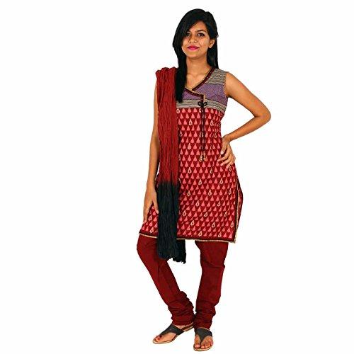 Rize Women's Jute Women's Salwar Suit (SKD DY 2615_Rani_Xx-Large)