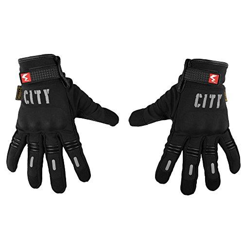 Autofy Universal Touch Responsive Full Finger Riding/Driving Gloves (Black, L)