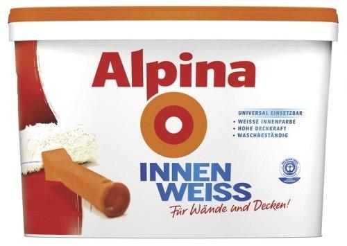 Preisvergleich Produktbild Alpina 2,5 L. Innenfarbe INNENWEISS, Farbe, Wandfarbe weiß matt,