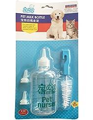 UEETEK 120ML biberón del animal doméstico botella Kit perro gato biberón de enfermería establece para los pequeños animales recién nacidos