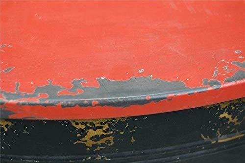 Livitat® Couchtisch Beistelltisch Metall Ölfass Vintage Industrie Look LOFT Shabby LV5021 - 4