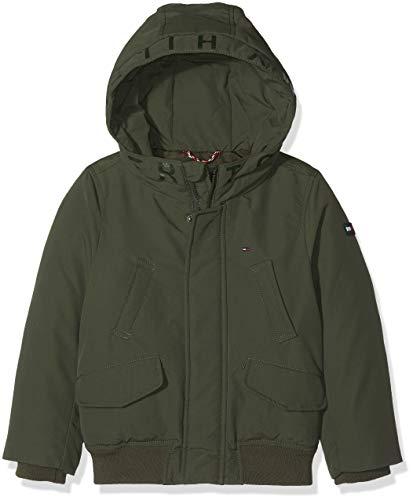 Tommy Hilfiger Jungen Jacke Arctic Hooded Bomber Jacket, Grün (Forest Night 302), 152 (Herstellergröße: 12)