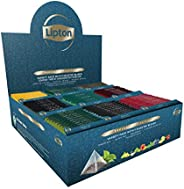 Lipton Exclusive Collection Coffret Thés et Infusions, 9 Parfums Différents, Label Rainforest Alliance, 108 Sa
