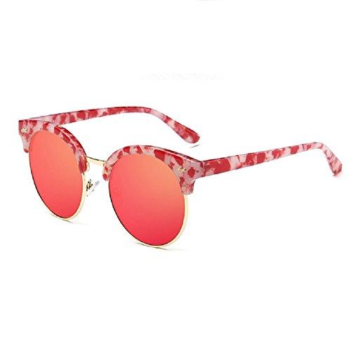 O-C Damen Sonnenbrille Rot Glazed frame,Red lens