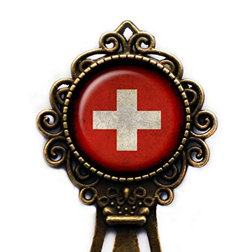 Go Forward Lesezeichen für Lesefreunde , Schweiz Schweizer Flaggen-Lesezeichen , Geschenke für gelesenen Liebhaber