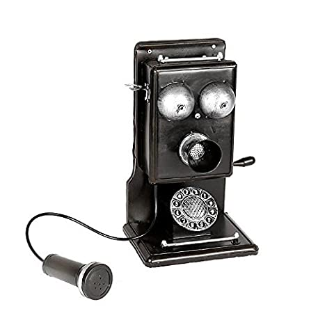 Ancaixin Old-fashioned Telephone Handmade Iron Crafts Home Art Decoration, Black