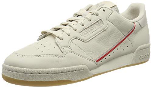 adidas Herren Continental 80 Gymnastikschuhe, Braun Clear Brown/Scarlet/Ecru Tint S18, 42 2/3 EU 80 Schuh