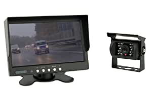 7 Zoll TFT Farb-Monitor +Farb-Kamera IP67 inkl. 20 Meter Anschlusskabel (12-24 Volt)