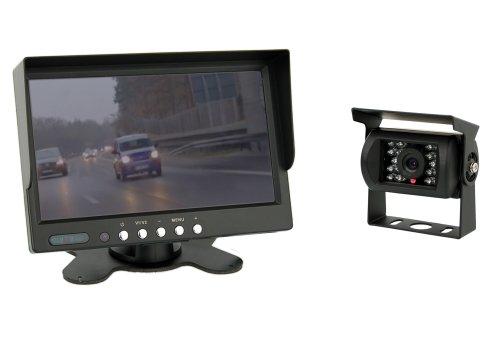 """VSG 7\"""" Allround-Rückfahrsystem/Distanzlinien/Bildspiegelung / 12-24 Volt / 120° & IP67 / Ausschaltverzögerung/inkl. 20m Kabel / 2 Videoeingänge/Nachtsicht/Select-Serie"""