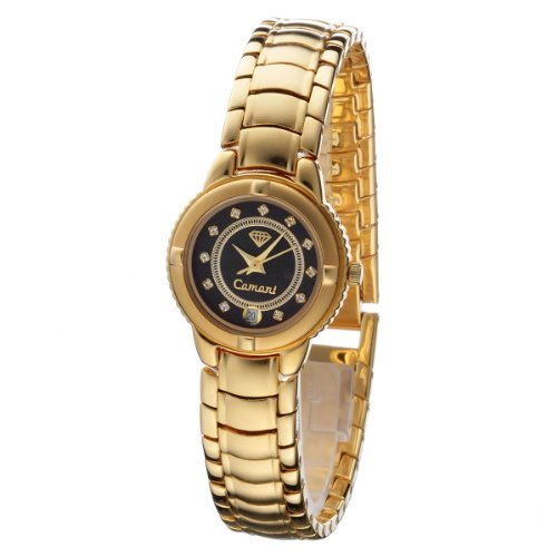 Yves Camani Damenuhr Carat 23 Modell LINDA Gold/Schwarz 225-L-S-G