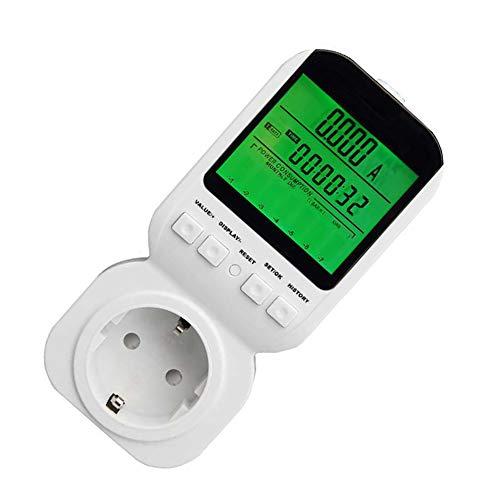 Hll-036 potenza contatore monitor di utilizzo unione europea spina del misuratore di potenza energia watt voltaggio ampere meter con digitale lcd display