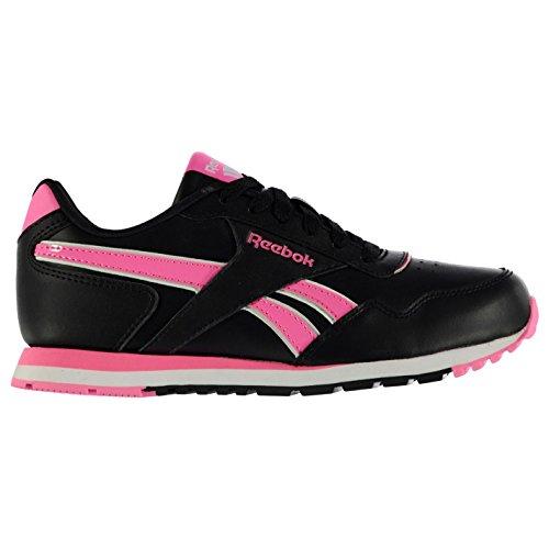 Classic Maedchen Sportschuhe Glide Kinder Reebok pink Freizeit Black Leder Sneaker Turnschuhe 1ZSgnx