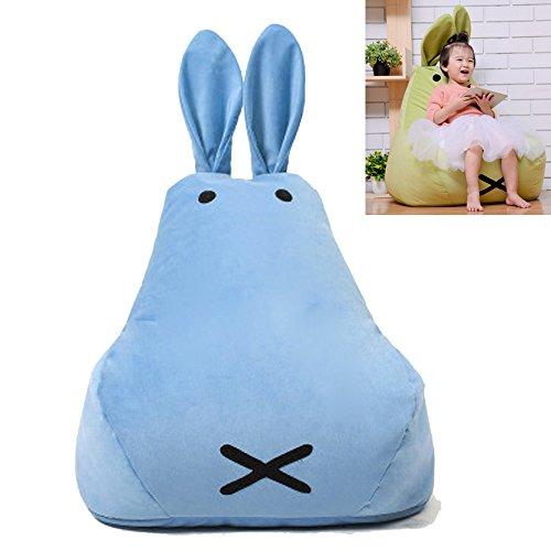 Univegrow Kinder Sitzsack Wasserabweisend Floppy Ohren Bunny Kaninchen Sitzsack Mini Stuhl Kissen...