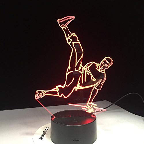 Geschenk Nachtlicht 3D Tischlampe Illusion,Hiphop 7 Farben Ändern Schreibtisch Dekoration Lampen Geburtstag Weihnachtsgeschenk-Berühren Sie Schalter -