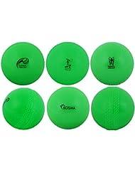 Kosma Coppa del Mondo Inghilterra e Galles 2019 Windball Practice Cricket Ball   Palline da Allenamento morbide - Confezione da 6 - Colore: Verde