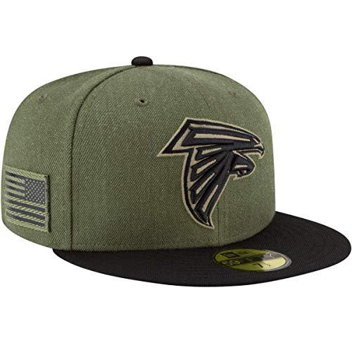 New Era Atlanta Falcons On Field 18 Salute to Service Cap 59fifty 5950 Fitted Limited Edition