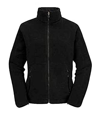 Ladies Full Zip Classic Fleece Jackets Sizes 8 to 30 SUITABLE FOR WORK & LEISURE (6 to 8 / XS - EXTRA SMALL, BLACK)