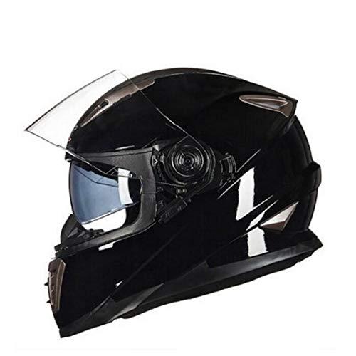 OLEEKA Doppelvisier Motorradhelm G-1000 Integral Motorradhelme Moto Knight Ausrüstung Größe M L XL Knight Zip