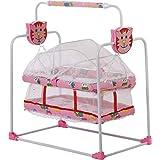 LookNSnap New Born Baby Swing Cradle Jhulla- Pink