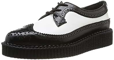 T.U.K. A8643, Chaussures de ville mixte adulte - Noir (Black/White), 36 EU
