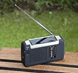 Tragbares Solarradio mit Kurbel (Dynamo)