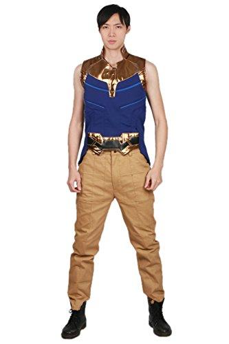 tüm Film Schurke Cosplay Outfit Herren Abendkleid Kleidung Erwachsene Top Hose Set Halloween Partei Kleider (Gamora Halloween Kostüme)