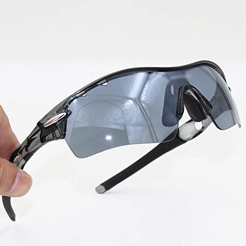 Whhhherr Mode Motorrad reiten Brille Brille Sonnenbrille for männer Frauen (Farbe : Schwarz)