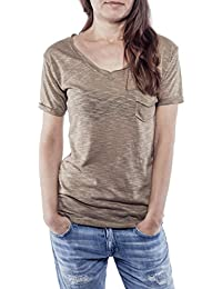 Ella Manue Frauen V-Neck Shirt Elie