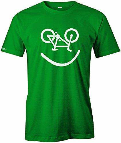 Bike Smiley - Fahrrad Hobby - HERREN T-SHIRT Grün
