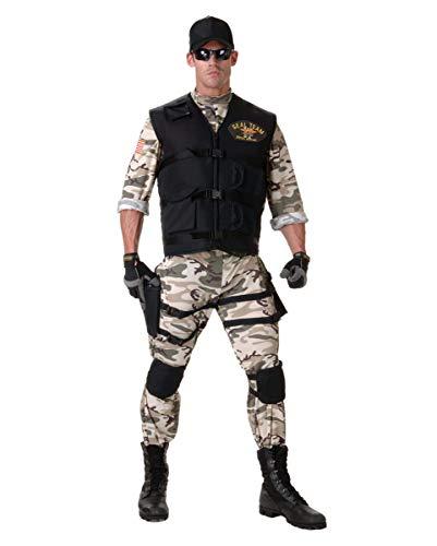 Horror-Shop 6-TLG. Navy Seal Kostüm-Anzug für Fasching, Halloween & Karneval