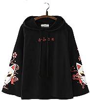 Semplice Giapponese Testo Moda di Moda Estetico Minimalista Elegante Volpe Sukura Design Lungo Maniche Felpa c