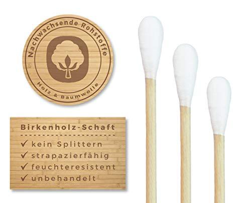 200 Wattestäbchen aus Holz von Feel Good State | im praktischen Spender | 100% biologisch abbaubar, nachhaltig und plastikfrei - 5