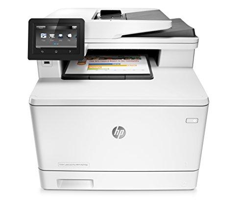 HP Color Laserjet Pro M477fdn Farblaser Multifunktionsdrucker (Drucker, Scanner, Kopierer, Fax, LAN, ePrint, Airpint, Duplex, USB, 600 x 600 DPI) Weiß (Hp Laserjet Duplex)